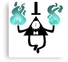 Bill Cipher Flames Canvas Print