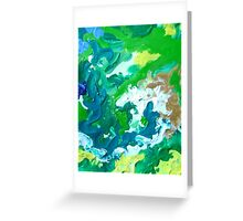 Ether Abstract Painting Green Art Greeting Card