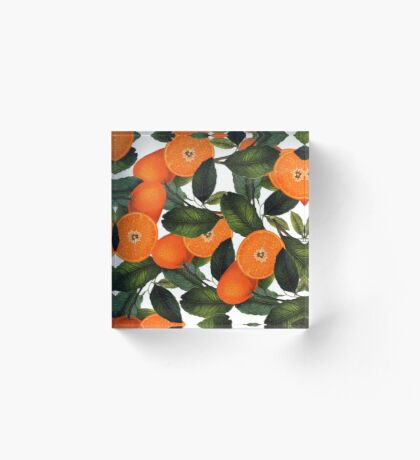 The Forbidden Orange #redbubble #lifestyle Acrylic Block