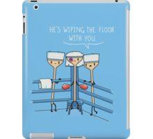 Wiping the floor iPad Case/Skin