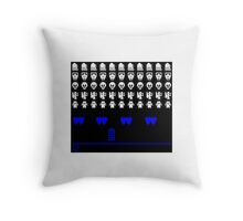 Time and Space Invaders Throw Pillow