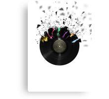 Shattered Vinyl Canvas Print