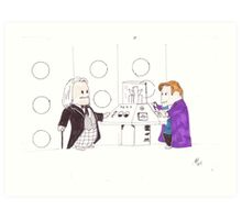 whodipose in space in time Art Print