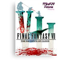 Final Fantasy VII: The Sacrifice Of Cloud - Numbers and Characters With Blood Canvas Print