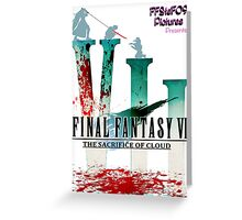Final Fantasy VII: The Sacrifice Of Cloud - Numbers and Characters With Blood Greeting Card