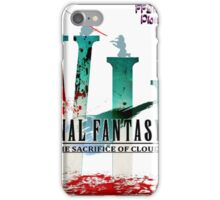 Final Fantasy VII: The Sacrifice Of Cloud - Numbers and Characters With Blood iPhone Case/Skin