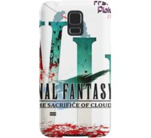 Final Fantasy VII: The Sacrifice Of Cloud - Numbers and Characters With Blood Samsung Galaxy Case/Skin
