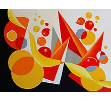 YELLOW/RED BALLOON ABSTRACT Photographic Print