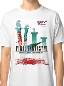 Final Fantasy VII: The Sacrifice Of Cloud - Numbers and Characters With Blood Classic T-Shirt