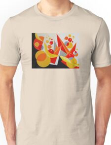 YELLOW/RED BALLOON ABSTRACT Unisex T-Shirt