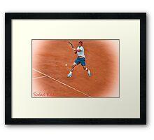 Rafael Nadal - Rome Framed Print