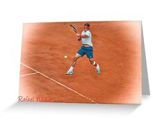 Rafael Nadal - Rome Greeting Card