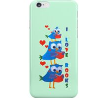 reading owls iPhone Case/Skin