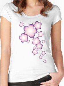 Sakura Falls Women's Fitted Scoop T-Shirt