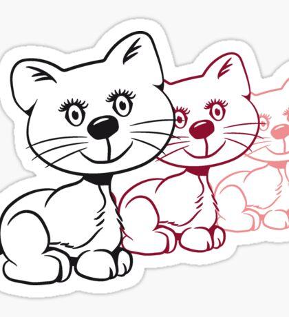 Katze baby niedlich lustig süss design  Sticker