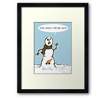 Mature Snowman Framed Print
