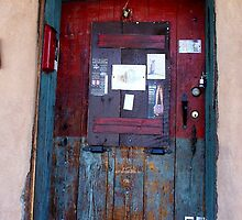 Weathered & Well-Locked Door by David DeWitt