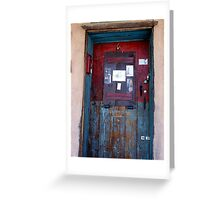 Weathered & Well-Locked Door Greeting Card