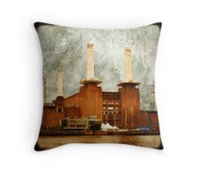 The Battersea Power Station - London Throw Pillow
