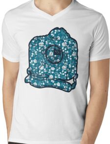 1d C Floral Mens V-Neck T-Shirt