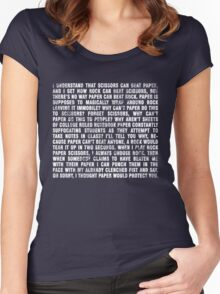 Rock beats paper. Women's Fitted Scoop T-Shirt