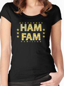 ALEXANDER HAMILTON: HAM FAM GOLD CLASSIC Women's Fitted Scoop T-Shirt