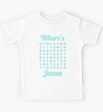 Baby James learns word puzzle Kids Tee