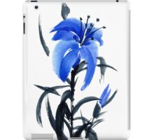 Blue lily iPad Case/Skin