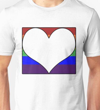 LGBT Heart Block Unisex T-Shirt