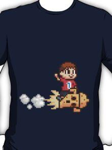 8-Bit Villager Riding Lloid Rocket (SSB4) T-Shirt