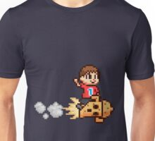 8-Bit Villager Riding Lloid Rocket (SSB4) Unisex T-Shirt
