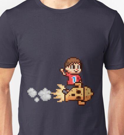 8-Bit Villager Riding Lloid Rocket (SSB4) Unisex T-Shirt
