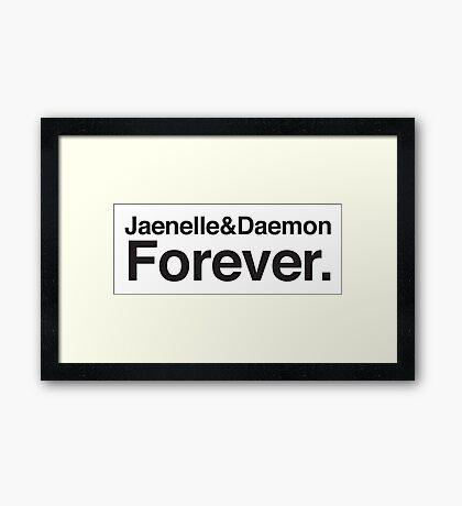 Jaenelle & Daemon Forever Framed Print