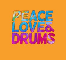 Peace love and drums Womens Fitted T-Shirt