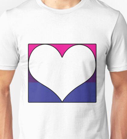 Bi Pride Heart Block Unisex T-Shirt