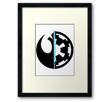 Rebel Alliance vs Galactic Empire - Star Wars Framed Print