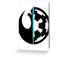 Rebel Alliance vs Galactic Empire - Star Wars Greeting Card