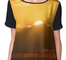 Rising Sun Chiffon Top