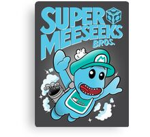 Super Meeseeks Bros. shirt iPhone iPad case pillow Canvas Print