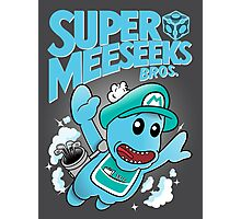 Super Meeseeks Bros. shirt iPhone iPad case pillow Photographic Print