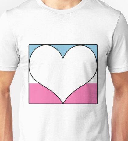 Trans Pride Heart Block Unisex T-Shirt