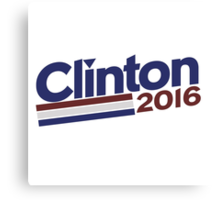 Hilary Clinton 2016 Canvas Print