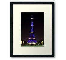 Eiffel Tower Color Framed Print