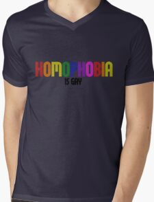HOMOPHOBIA is gay Mens V-Neck T-Shirt