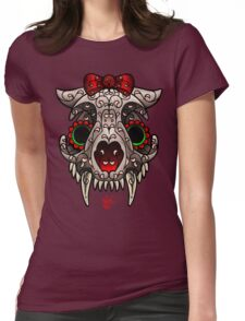 Kitty Skull Womens Fitted T-Shirt