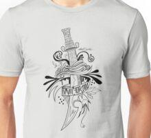 Symbolic Sword - Black & White Unisex T-Shirt