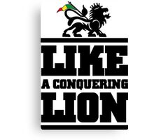 Like a conquering lion Canvas Print