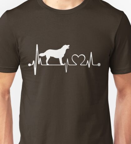 Golden Labrador Heartbeat Unisex T-Shirt
