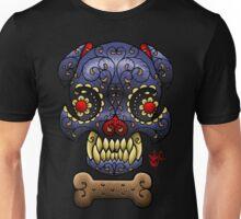 Boston Terrier Sugar skull. Unisex T-Shirt