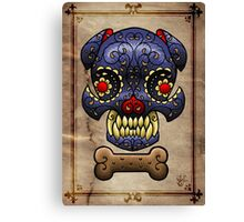 Boston Terrier Sugar skull. Canvas Print